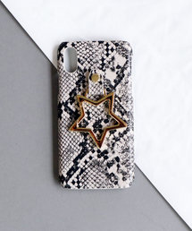 【 Hashibami / ハシバミ 】 # iPhone X/XS スマホ・携帯カバー リング付きケースグレイッシュベージュ