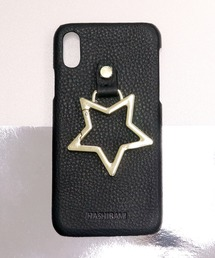 【 Hashibami / ハシバミ 】 # iPhone X/XS スマホ・携帯カバー リング付きケースブラック