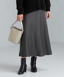 CFC サテン ナロー フレア スカート