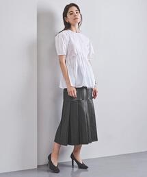 <VONDEL(フォンデル)>フロントプリーツ スカート