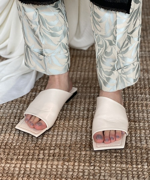 【chuclla】【2021/SS】Diagonal-cut square low sandal chs144