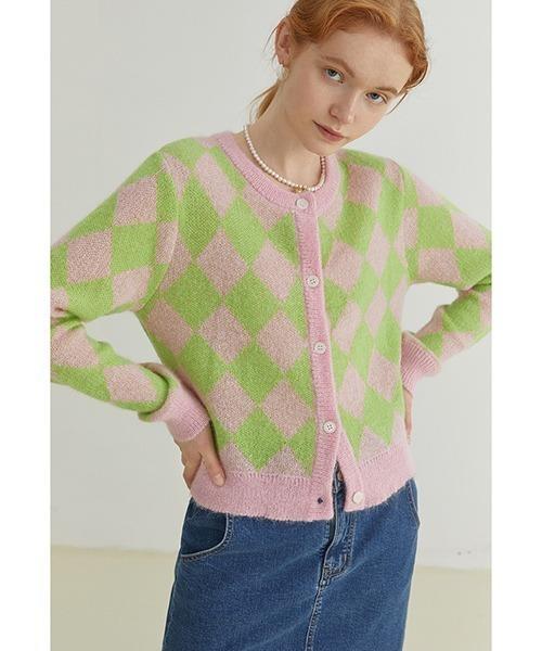 【Fano Studios】【2021AW】Diamond contrast sweater FQ21S027
