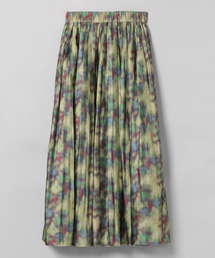 JEANASIS(ジーナシス)のボカシガラプリーツスカート/830705(スカート)