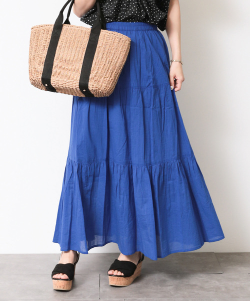 SEVENDAYS=SUNDAY(セブンデイズサンデイ)の「ティアードスカート○(スカート)」 ブルー