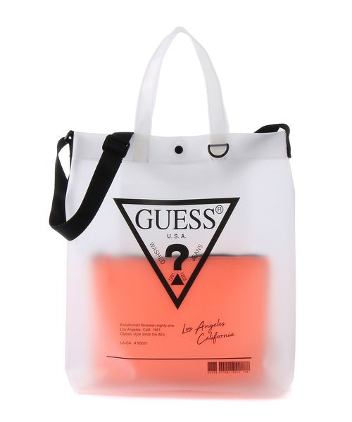 0525b9bfb045 A4サイズ収納可. 1. Guess(ゲス)のTRIANGLE LOGO CLEAR TOTE BAG(トートバッグ)