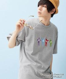 BEATLES/ビートルズ別注 刺繍 半袖Tee オーバーサイズカットソー杢グレー