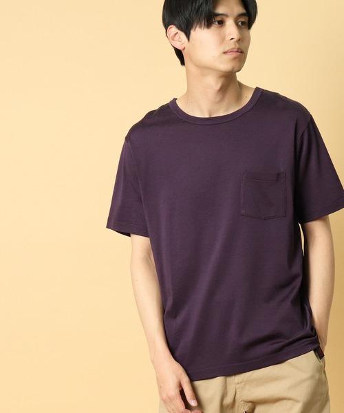 ∴【 Healthknit / ヘルスニット 】ヴィンテージレーヨンクルーネック半袖ポケットTシャツ ポケT 5331 SIP