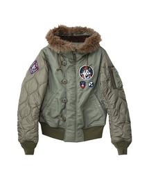 TRIANGLE WOMAN リメイクN-2Bジャケットカーキ
