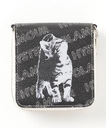 CAT DOUBLE ZIPウォレットブラック
