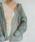 select MOCA(セレクトモカ)の「シースルービックシルエットシャツ/レギュラーカラーロングスリーブルーズシルエットシャツ/シアートップス(シャツ/ブラウス)」|モスグリーン