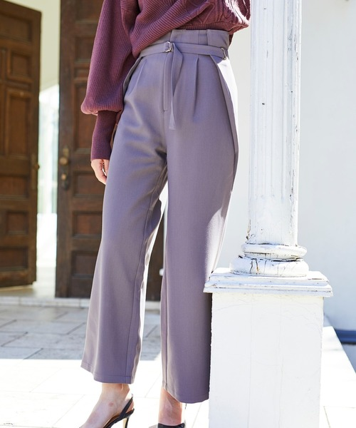 Side tuck Wide パンツ