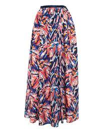 Drawer シルクプリントギャザースカート