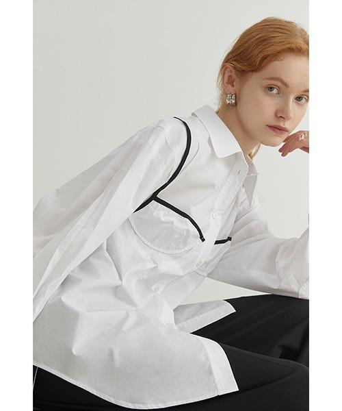 【Fano Studios】【2021AW】Chest shape design shirt FQ21S079