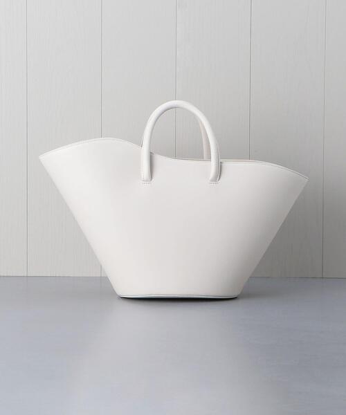 <LITTLE LIFFNER>LEATHER OPEN TULIP TOTE BAG/バッグ.