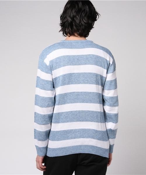 ボックスロゴボーダークルーセーター