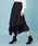 UNITED TOKYO(ユナイテッドトウキョウ)の「プリーツレイヤードラップスカート(スカート)」|ネイビー