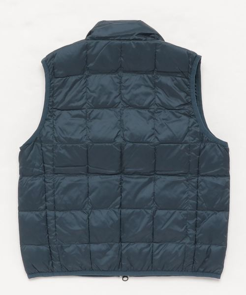 HI NECK W-ZIP DOWN VEST(K002)