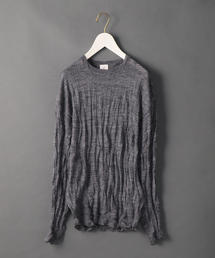<6(ROKU)>WASHER CREW NECK KNIT/ニット