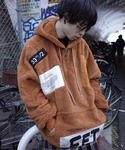 rovtski | 【ビッグシルエット】BOA AFYF PATCH HALF ZIP PARKA(Hoodies)