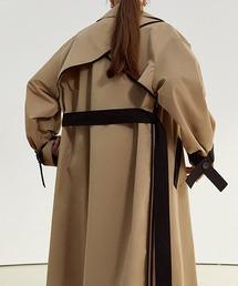 【Fano Studios】【2021SS】Oversized bicolor single trench coat cb-3 FC21W052ベージュ