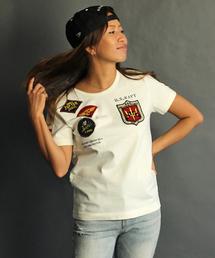 AVIREX(アヴィレックス)の【直営店限定】avirex/ アヴィレックス / S/S CREW NECK TOP GUN WAPPEN T-SHIRT/ トップガン ワッペン Tシャツ(Tシャツ/カットソー)