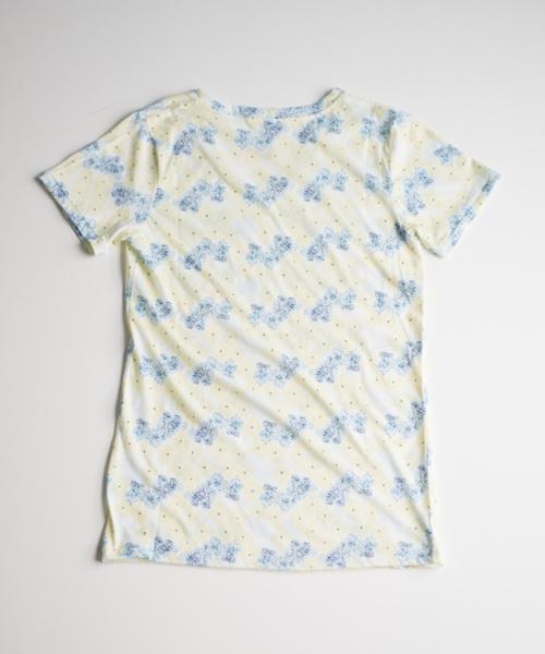 【半夏生】UVカットプリントT Shirt 紫陽花