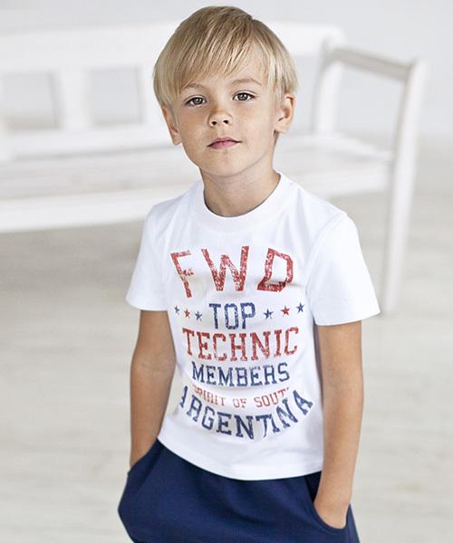 フロントプリント 半袖 Tシャツ キッズ