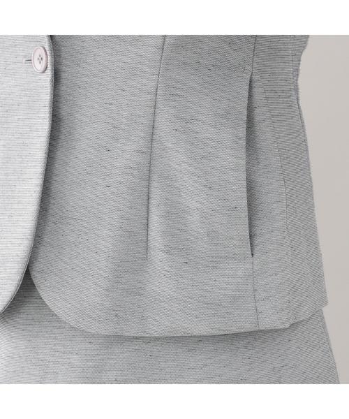 スラビーカノコノーカラーVネックジャケット