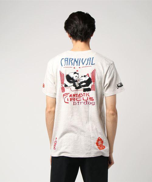 birdog/バードッグ/hand embroidery t-shirts -PANDA-/手刺繍Tシャツ