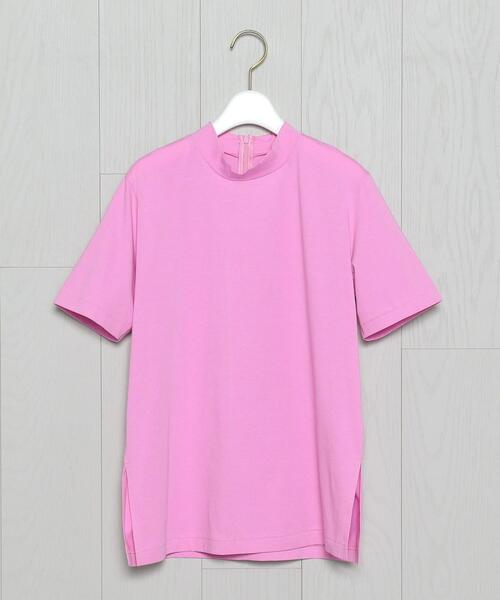 <H>HIGH NECK SHORT SLEEVE PULLOVER/カットソー