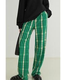 【Fano Studios】【2021AW】Tartan plaid color pants FQ21K031グリーン