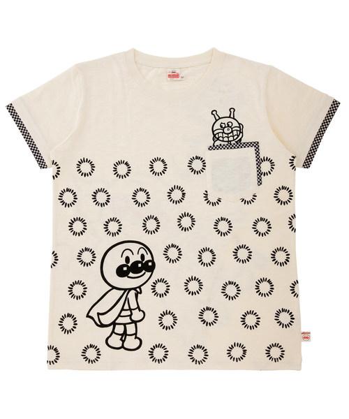 ANPANMAN KIDS COLLECTION(アンパンマンキッズコレクション)の「【アンパンマン】和風デザイン愛と勇気Tシャツおとな(Tシャツ/カットソー)」|オフホワイト