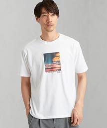[アンドライド] SC AND-RIDE スカイ プリント クルーネック 半袖 / Tシャツ