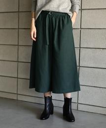 koe(コエ)の起毛細ベルト付ギャザースカーチョ(パンツ)