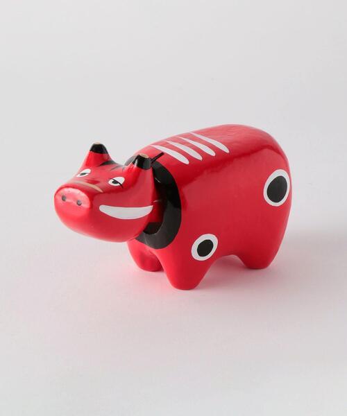[ 酉民藝 ] 眠べこ 3号 赤べこ フィギュア トイ おもちゃ 置物 縁起物 郷土玩具