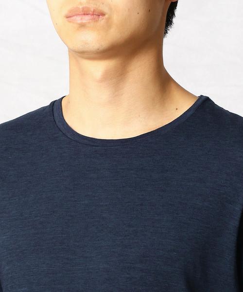 アシンメトリー カラーコンビTシャツ