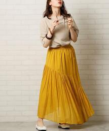 【WEB限定カラー】【7色から選べる】アシンメトリーカラースカート(ロングスカート/マキシスカート)#