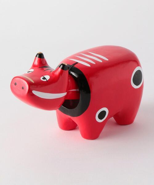 [ 酉民藝 ] 眠べこ 5号 赤べこ フィギュア トイ おもちゃ 置物 縁起物 郷土玩具