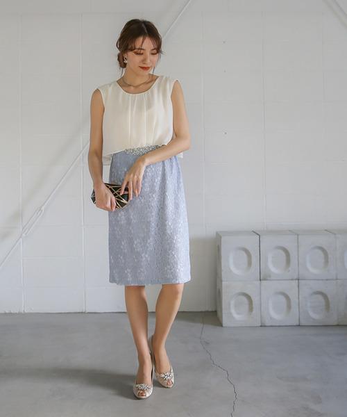 春のコレクション レースコンビビジュー付ドレス(ドレス) moca couture(モカクチュール)のファッション通販, 長野市:5b2cd97c --- rise-of-the-knights.de