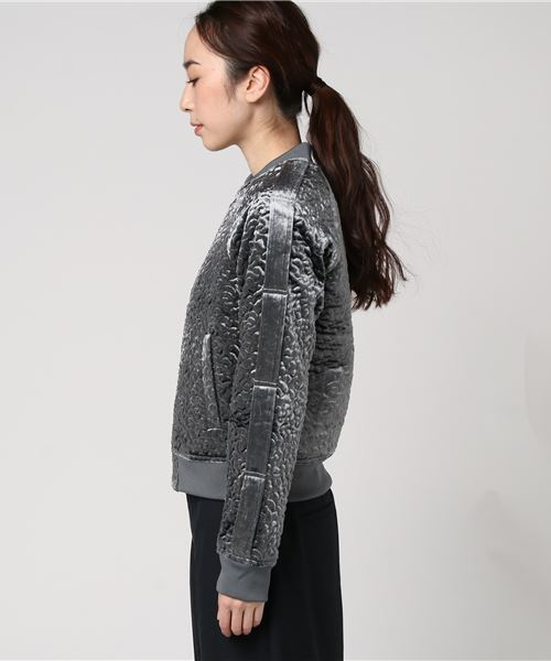CHARLEE TEXTURED BOMBER JACKET