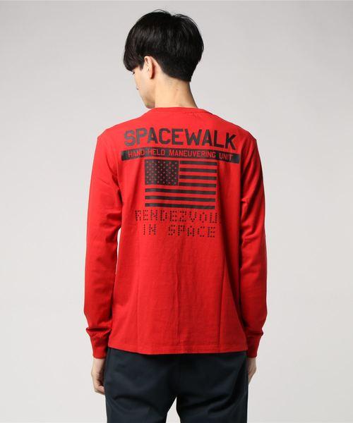 AVIREX/アヴィレックス/クルーネックTシャツ スペースウォーク/CREW NECK T-SHIRT SPACE WALK