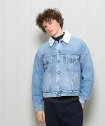 <H>DENIM BOA JACKET/ジャケット
