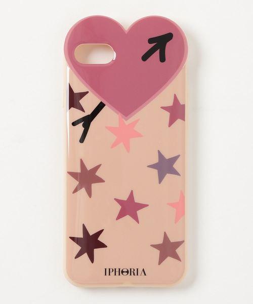 IPHORIA/アイフォリア Heart Case Purple Stars for iPhone 7/8