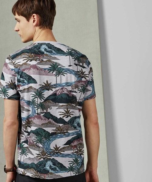 MULGA 新作 トロピカルボタニカル柄Tシャツ
