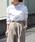 MYRDAL(ミュルダール)の「サイドボタンモックネックシャツ(シャツ/ブラウス)」|オフホワイト