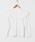 HOLIDAY(ホリデイ)の「RIB RUFFLE TOPS リブラッフルトップス(Tシャツ/カットソー)」 ホワイト