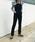 HOLIDAY(ホリデイ)の「RIB RUFFLE TOPS リブラッフルトップス(Tシャツ/カットソー)」 詳細画像