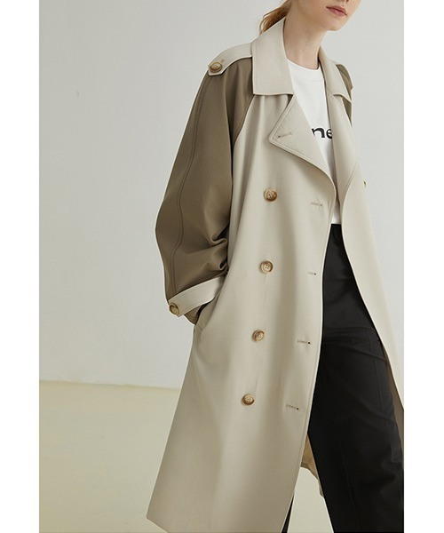 【Fano Studios】【2021AW】Raglan sleeves double trench coat FQ21W061