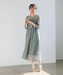 apart by lowrys(アパートバイローリーズ)のOCレースキリカエフレアワンピース 801903(ドレス)