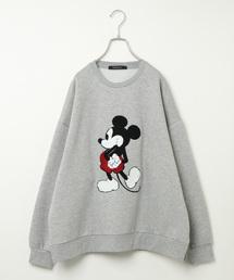 Disney(ディズニー)のDisney(ディズニー)ミッキーサガラ刺繍トレーナー(スウェット)